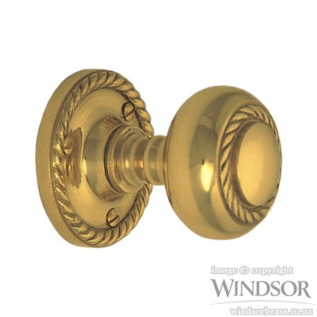 Windsor Brass Traditional Georgian Knob Set Handles Plus