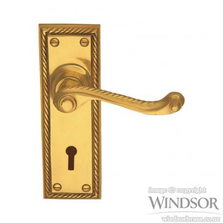 Windsor Brass Georgian Lever On Plate 152 X 52 X 8mm