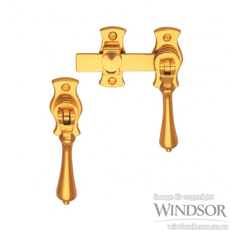 Windsor brass french door catches handles plus for Traditional kitchen handles nz