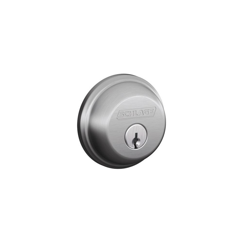 Schlage b series dbl cylinder deadbolt handles plus for Traditional kitchen handles nz