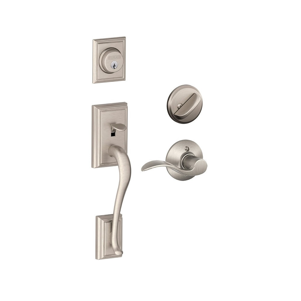 Schlage F Series Addison Entrance Set With Accent Lever