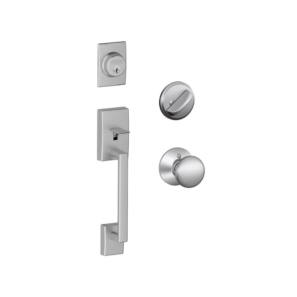 Schlage F Series Century Entrance Set With Orbit Or