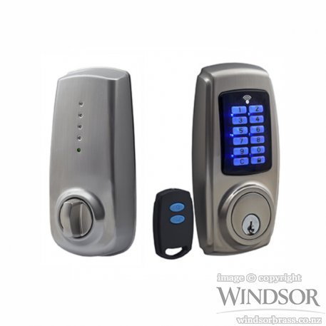 Wb Electronic Locks Deadbolt With Remote Handles Plus
