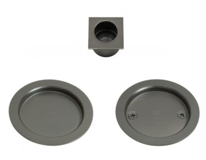 Cavity Suite Round Passage Kit Graphite Nickel Handles